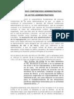 Contencios Administrativo de Los Actos Administrativos.