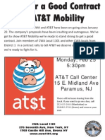 Rally for  Fair Contract with at$t mobility, Monday, February 25, 2013, 5:30 p.m., Paramus, NJ