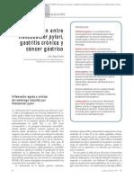 01.014 Relación entre Helicobacter pylori, gastritis crónica y cáncer gástrico