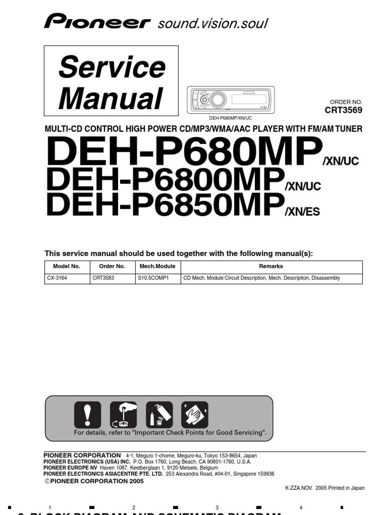 Pioneer Deh P6850mp Wiring Diagram Free Download P6800mp 6800mp Resistor Capacitor