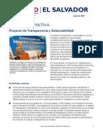 Fact Sheet - Transparency and Governance Program_SPANISH