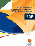 ASEAN Conferenceon Civil Service Matters:ASEAN Resource Centre'sDirectory