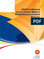 ASEAN Conferenceon Civil Service Matters:ASEAN Resource Centre'sDirectory