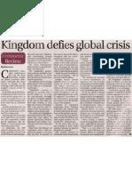 Kingdom Defies Global Crisis