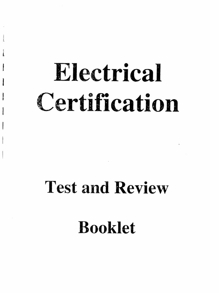 Electrical Certification Testpdf Series And Parallel Circuits