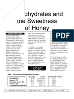 Carbohydrates and the Sweetness of Honey