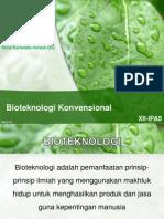 Ppt Bioteknologi Konvensional