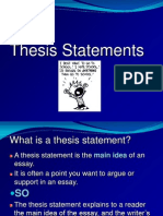 Thesis Statement Pp t
