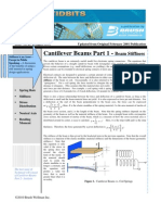 Issue No 20- Cantilever Beams - Part 1 Beam Stiffness