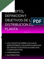 Concepto Definicion y Obj de La Distribucion de Planta