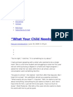 What Your Child Needs