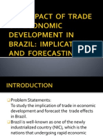 THE  IMPACT  OF  TRADE ON  ECONOMIC DEVELOPMENT  IN BRAZIL