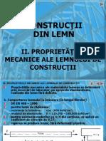 Curs 2 Proprietati Mecanice Ale Lemnului de Constructie