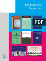 Language Linguistics Catalog 2013
