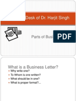Parts of Business Letters