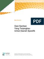 Buku Penuntun Opsi Sanitasi Yang Terjangkau Untuk Daerah Spesifik