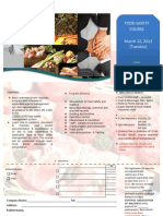 PCAM Food Safety Course 2013