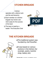 kop i 012 brigade and hierarchy - Kitchen Brigade