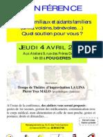 Affiche A3 Conférence Fougères