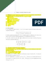 Espace Vectoriel Resume