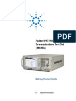 E6621-90001-Agilent PXT Wireless Communications Test Set Getting Started Guide