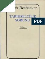 Erich Rothacker - Tarihselcilik Sorunu
