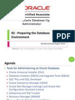 OCA 02 - Preparing the Database Environment