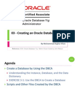 OCA 03 - Creating an Oracle Database