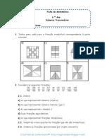 Matemática 6.º Ano - Números Fraccionários
