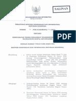 PM KOMINFO-14-2012_Persyaratan Teknis Perangkat Telekomunikasi Dense Wavelenght Digital Multiplexer