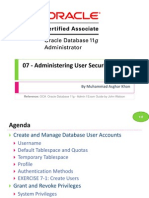OCA 07 - Administering User Security