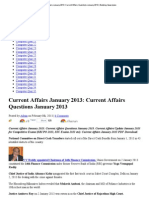 Current Affairs January 2013_ Current Affairs Questions January 2013 _ Banking Awareness