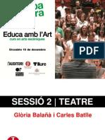 Educa Amb l Art Dossier Sessi 2 Teatre