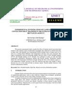 Experimental Investigation of Laminar Mixed Convection Heat Transfer