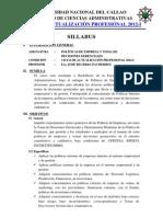 UNC Sillabus Politica de Empresas 2012