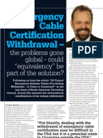 "Emergency Cable Certification Withdrawal - the problems gone global - could ""equivalency"" be part of the solution? North American Tunneling Journal January 2013 TJ Dec-Jan 2013"