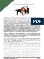 Ajustes de Carburacion en Taladros de Gasolina Usados en Espeleologia