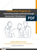 Certification Program on Unleashing People Potential Through Assessment Development Centre