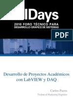 Desarrollo de Proyectos Academicos Con Lv y Daq
