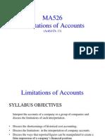 Limitations of Accounts