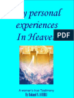 My Personal experiences in Heaven