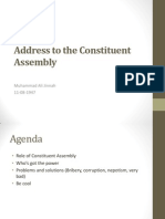 Address to the Constituent Assembly