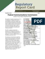 CEI Regulatory Report Card on the FCC