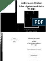 Ockham - Sobre el gobierno tiránico del papa (selección)