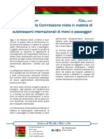 Commissione autotrasporti a Roma