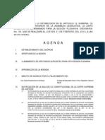 Agenda 21 Feb