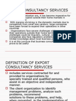 Export Consultancy Services Slides  by sandeep gour