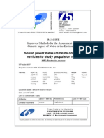 Sound Power Measurements on Heavy Vehicles to Study Propulsion Noise
