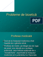 Probleme de Bioetica