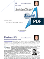 Why A3, Why Now in Lean Thinking